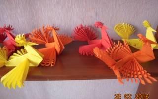 Оригами птичка: как сделать своими руками; схема с видео и фото