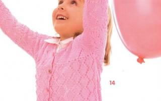 Вязание для девочек спицами: схемы и описания моделей для 4 и 6-7 лет