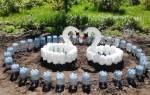 Лебедь из пластиковых бутылок своими руками: мастер класс по поделке