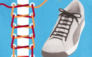 Как вставлять шнурки: в кроссовки и в штаны