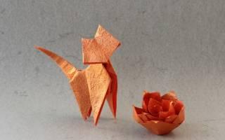 Как сделать кошку из бумаги: шаблоны для начинающих