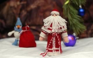 Дед мороз своими руками: мастер класс с фото