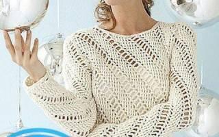 Пуловер крючком: схемы и описание как связать женский ажурный пуловер