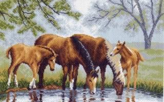 Вышивка крестом лошадей: схемы вышивки крестом бесплатно