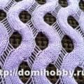 Палантин ручеек: схема и описание как связать спицами