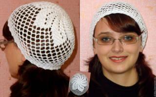 Женская летняя шапка: мастер класс и схема
