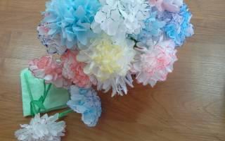 Цветок из салфеток своими руками: схема и мастер класс