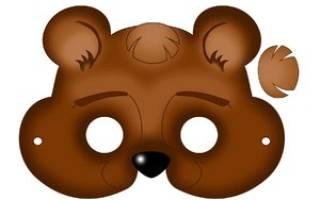 Маска медведя своими руками: делаем из бумаги на голову