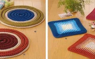 Вяжем коврики крючком: схемы как сделать из пряжи для дома