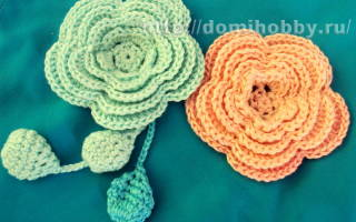 Маленькие цветы крючком: описание и схемы