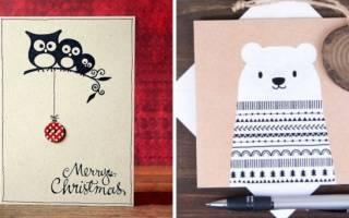 Новогодние открытки своими руками: мастер класс и схемы для новичков