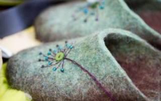 Валяние тапочек из шерсти: мастер класс с фото для начинающих