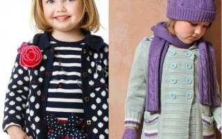 Вязаное пальто для девочки спицами со схемой, фото и видео