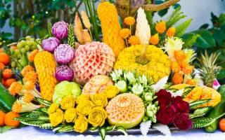 Фото карвинга из овощей и фруктов: картинки, уроки и пошаговое фото для начинающих