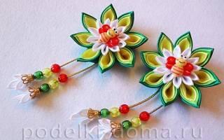 Канзаши своими руками: видео мастер класс как сделать заколки и цветы
