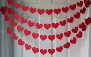 Гирлянда из сердечек своими руками: фото прилагается