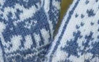 Варежки с орнаментом спицами: схемы, видео и пошаговое описание