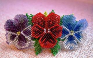 Плетение мозаикой из бисера для начинающих: мастер класс, техника выполнения и узоры с фото