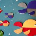 Аппликация из кругов и полукругов: модульная аппликация для детей