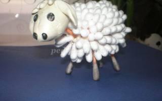 Поделки своими руками из ватных палочек: панда, цветы и овечка долли с мастер классом