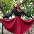 Выкройка юбки полусолнце: как сшить своими руками, фото раскроя