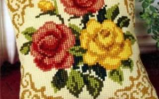 Схемы вышивки подушек: мастер класс крестом с фото