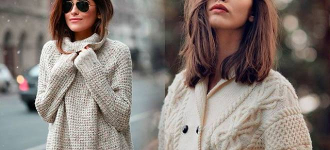 Женские вязаные свитера: разные варианты исполнения со схемами