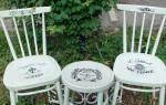 Декупаж стульев своими руками в стиле винтаж, венский, прованс