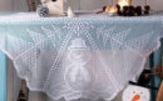 Скатерти крючком со схемами: филейное вязание