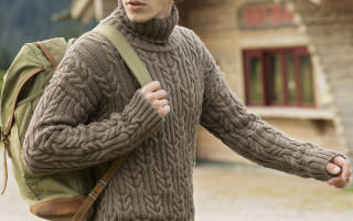 Мужской джемпер спицами: схема вязания, пошаговое руководство с фото и видео