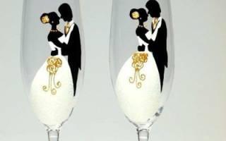 Роспись бокалов своими руками: мастер класс для начинающих и трафареты для свадьбы