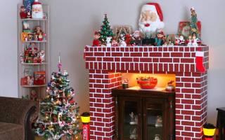 Фальш-камин из картона: варианты на новый год