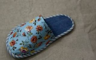 Тапочки из джинсов своими руками: выкройки и мастер класс с пошаговыми фото