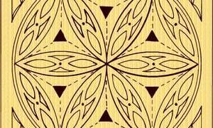 Геометрическая резьба по дереву: орнаменты и схемы с фото