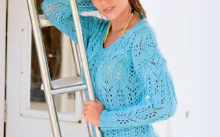 Ажурные пуловеры спицами: схемы как вязать из ангоры и из мохера
