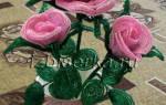 Схема розы из бисера: уроки плетения с видео и подробным мк