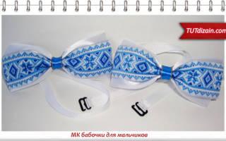 Канзаши бабочки для мальчиков: мастер класс из ткани и из атласных лент