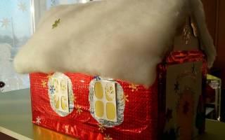 Новогодние домики своими руками: мастер класс с фото для начинающих