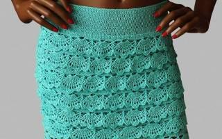 Вязаные юбки спицами: схемы для начинающих с описанием работы, фото и видео