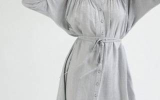 Выкройка платья с цельнокроеным рукавом: построение выкройки с фото и видео