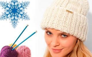 Женская шапка спицами: схема для начинающих