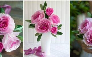 Поделки из гофрированной бумаги своими руками: мастер класс как сделать цветы и фото-подборка