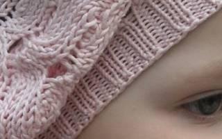 Берет спицами для девочек: варианты на 10 лет и на 6 лет