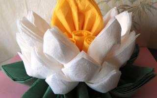 Лотос из бумажных салфеток: пошаговая инструкция и схема прилагается