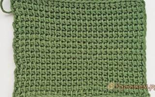 Тунисское вязание крючком — схемы, модели на русском для начинающих