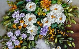 Схемы вышивки картин лентами: вышивка своими руками с фото