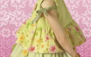 Как сшить платье с воланами на плечах: схемы для девочки